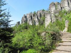 Krakonošova zahrádka vTeplických skalách