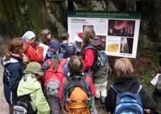 Tabule naučné stezky J. Vavrouška vTeplických skalách